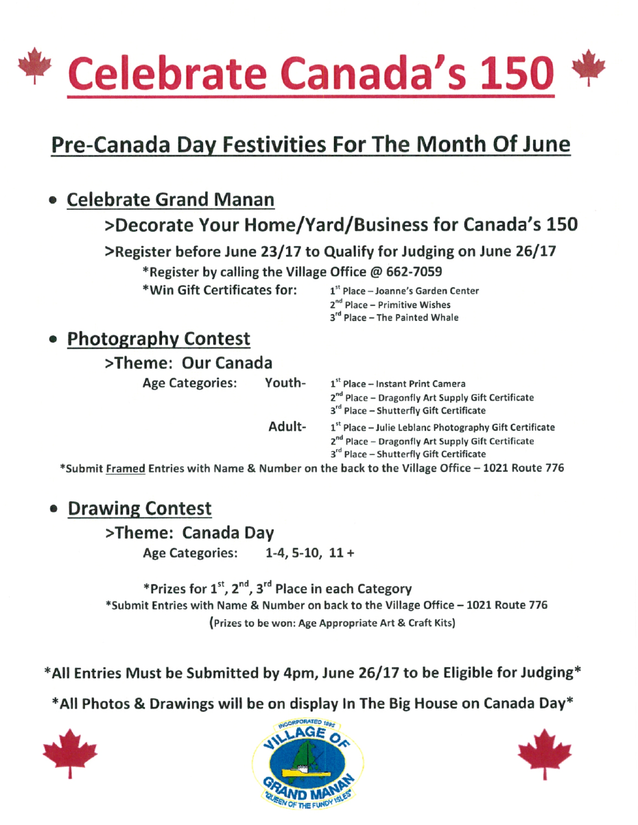 Pre canada day festivities for the month of june 2017 village pre canada day festivities for the month of june 2017 1betcityfo Images